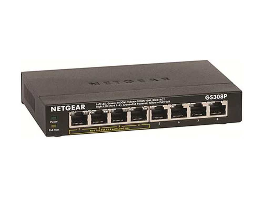 8-Port Gigabit Ethernet Switch with 4-Port PoE € 106.95