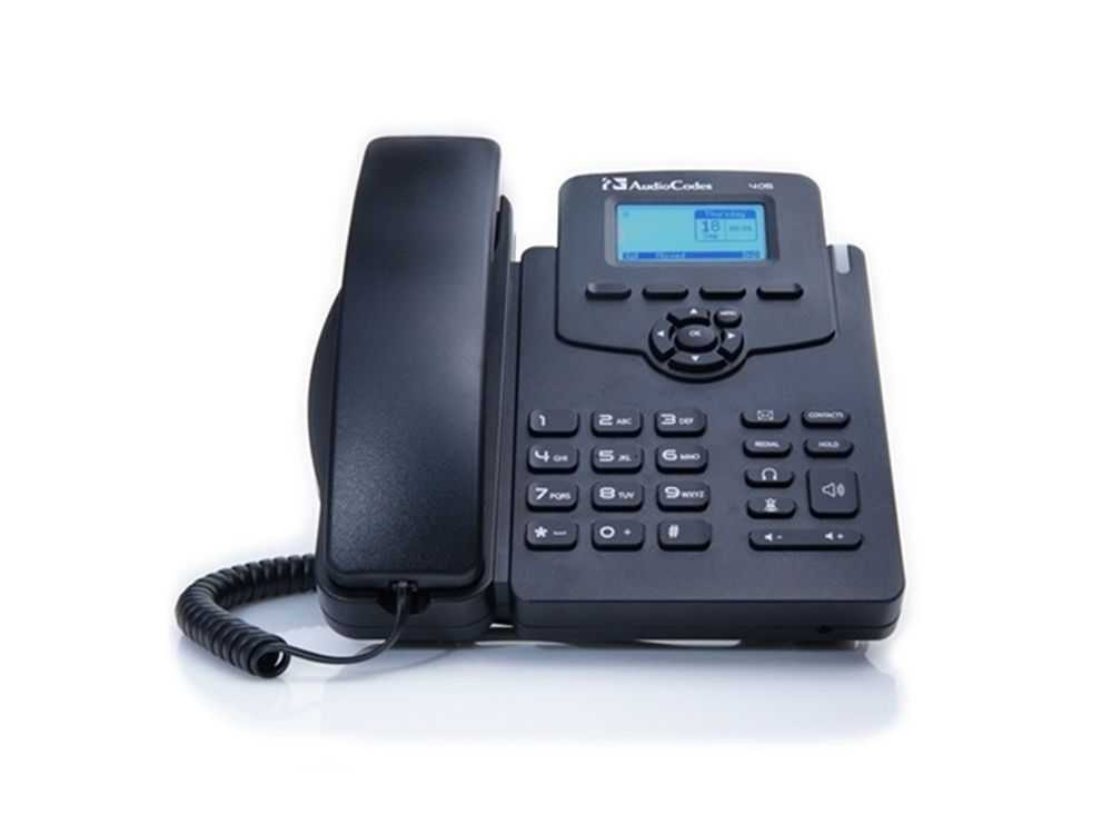 AudioCodes 405 IP-Phone PoE Black for Skype for Business € 101.95