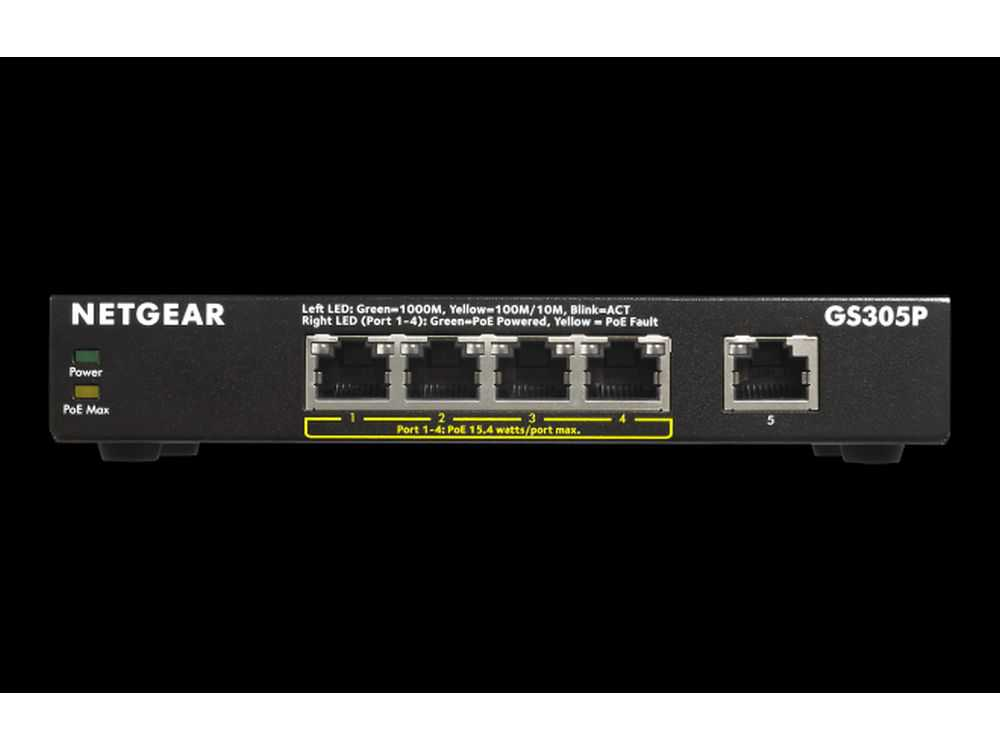 5PT POE/POE+ GIGE UNMANAGED SWITCH € 146.95