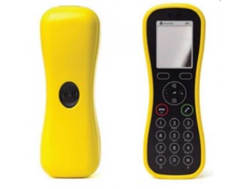 1 Handset Soft Cover, Yellow KIRK Butterfly w/BeltClip Cnct € 20.95
