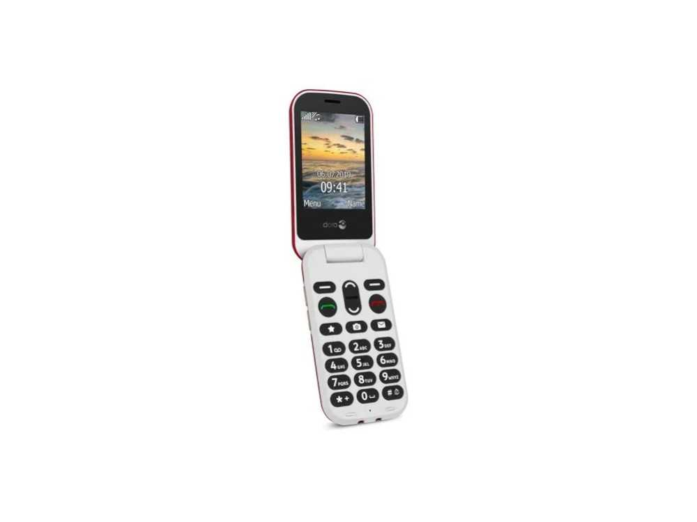 Doro 6060 Black/White easy to use clamshell phone € 88.95